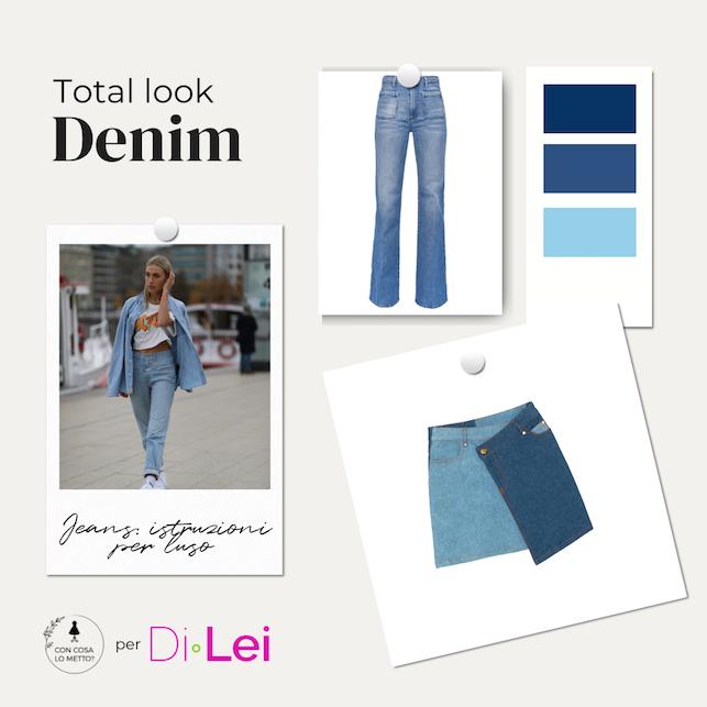 Jeans in città: come indossarlo in versione total look
