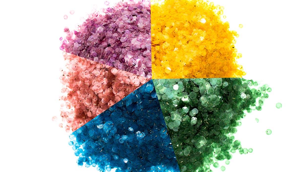 coriandoli colorati con semi