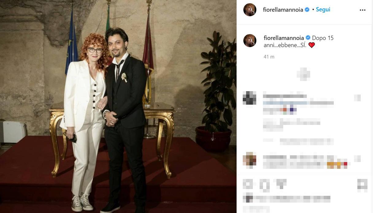 Fiorella Mannoia Carlo Di Francesco sposi