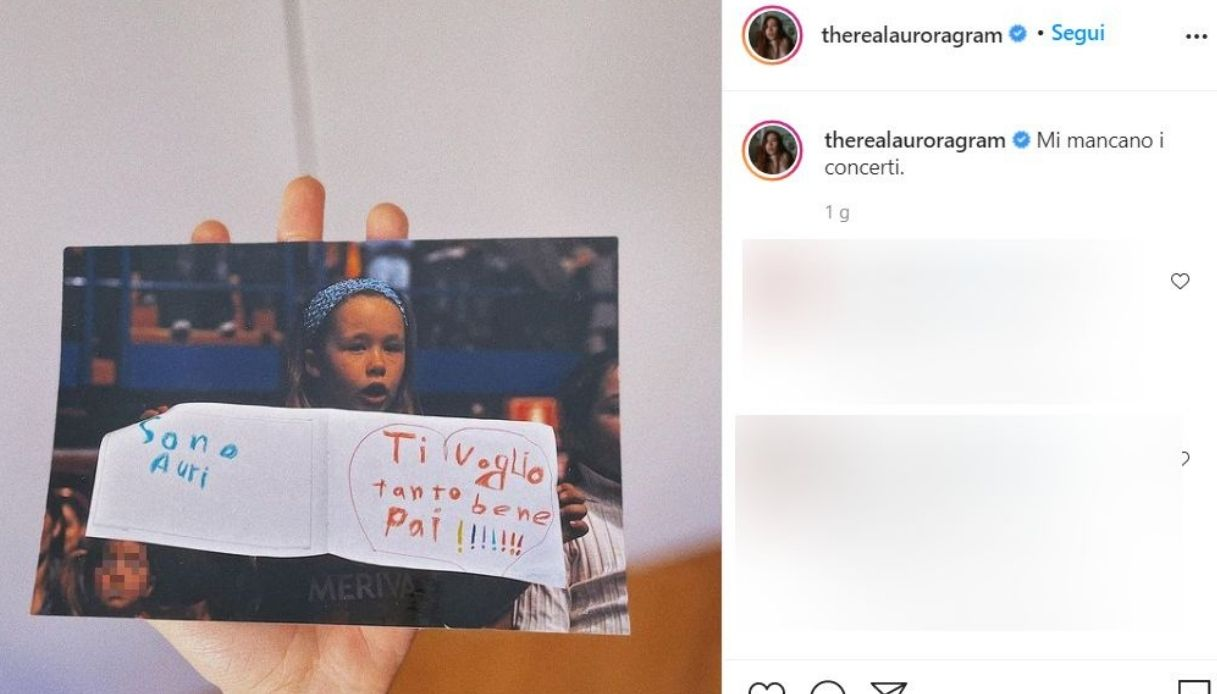 Aurora Ramazzotti, il post su Instagram