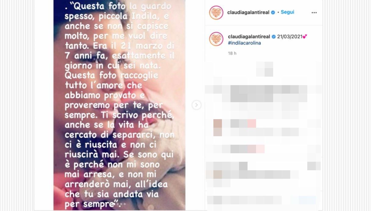 Claudia Galanti su Instagram