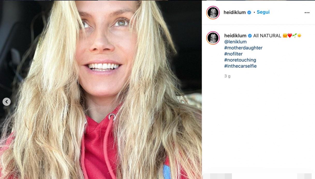 Heidi Klum su Instagram