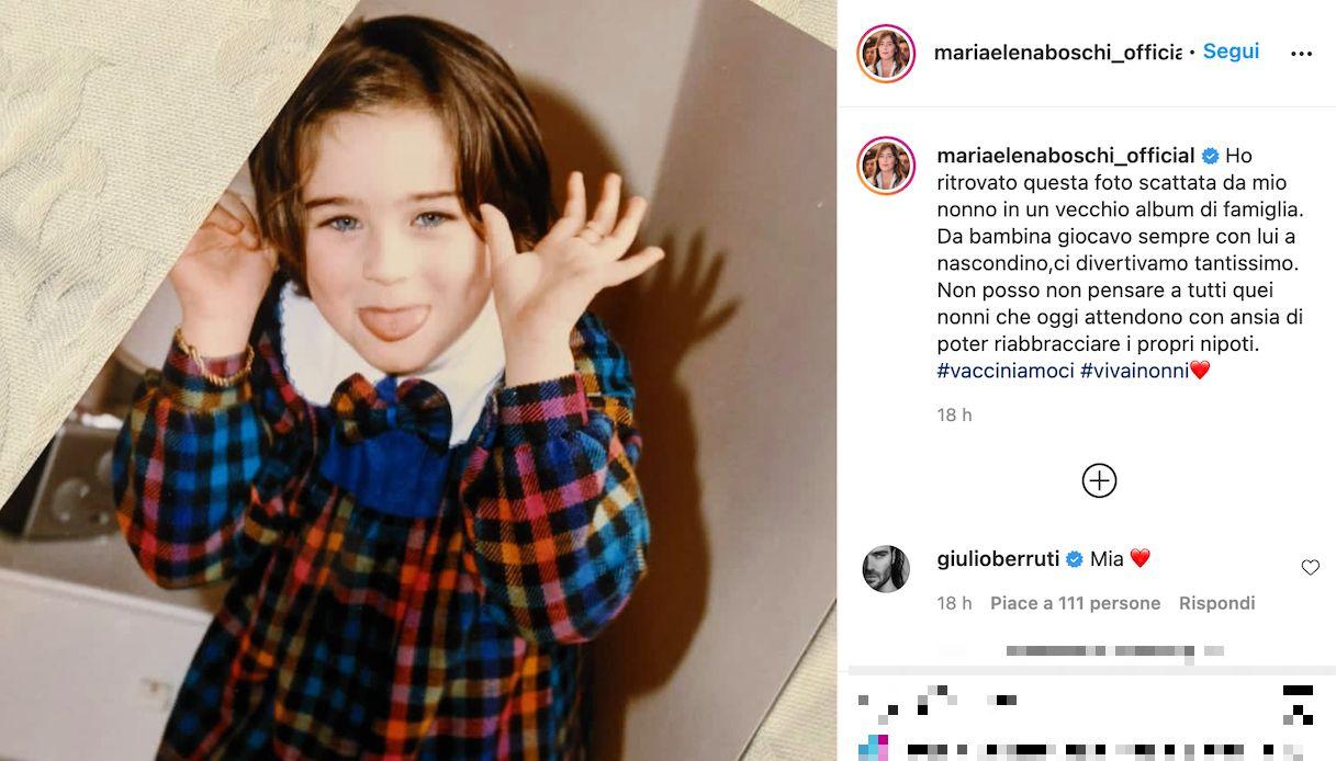 Maria Elena Boschi, la foto da bambina