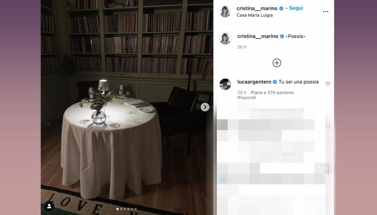 Cristina Marino post Instagram