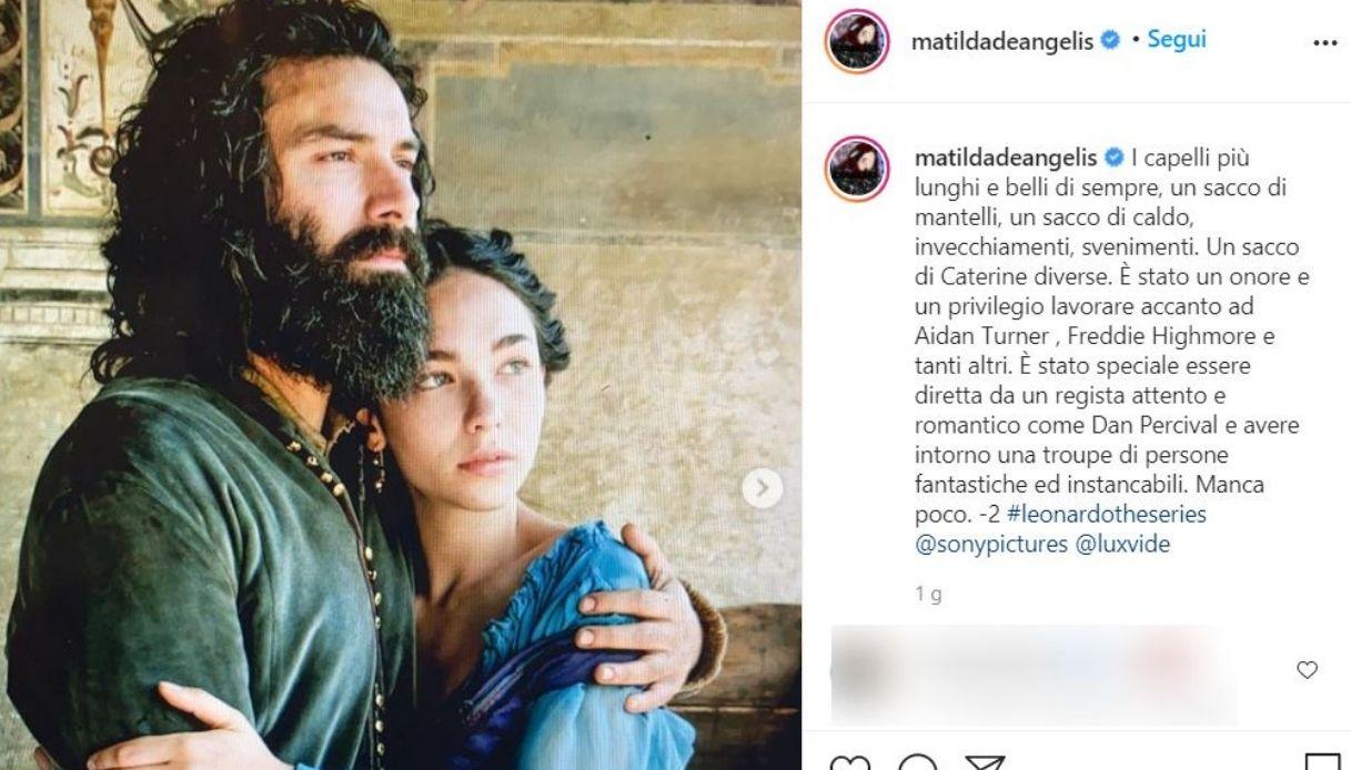 Matilda De Angelis, il post su Instagram