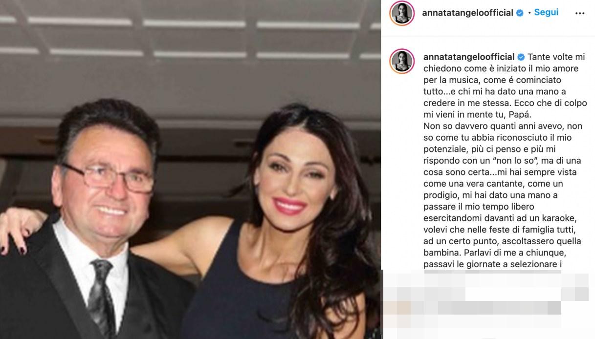 Anna Tatangelo e il papà Dante
