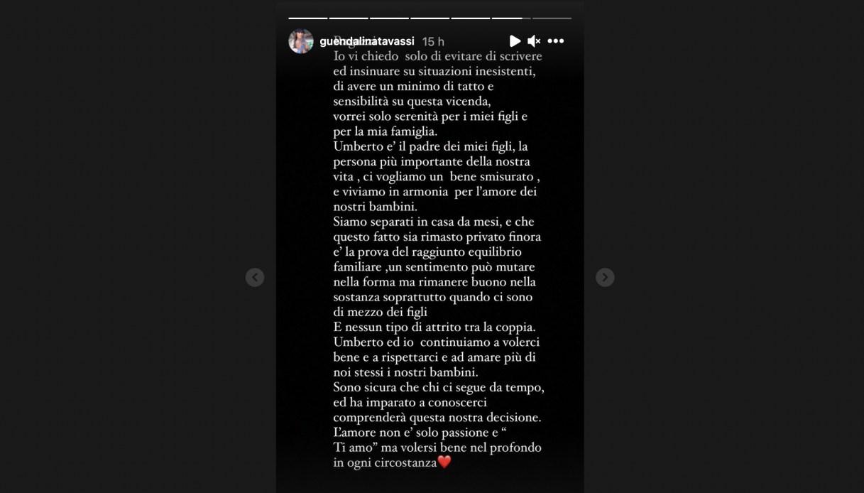 Guendalina Tavassi su Instagram