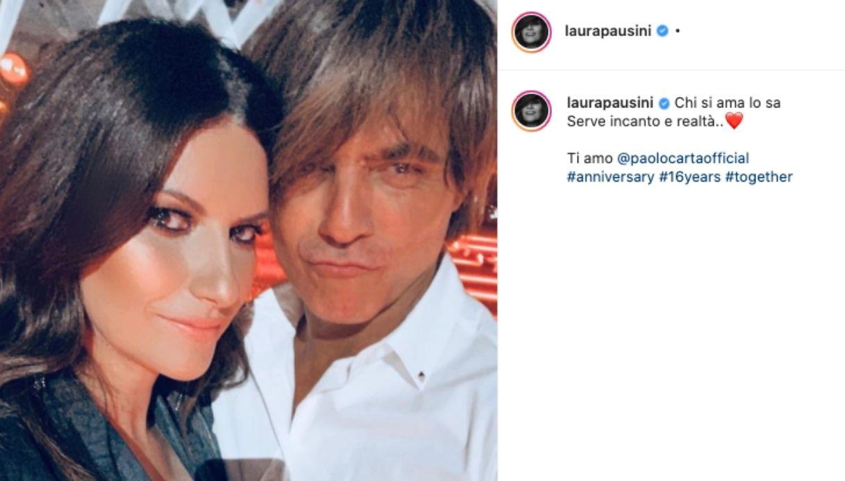 Laura Pausini e il post su Instagram per celebrare l'anniversario di matrimonio