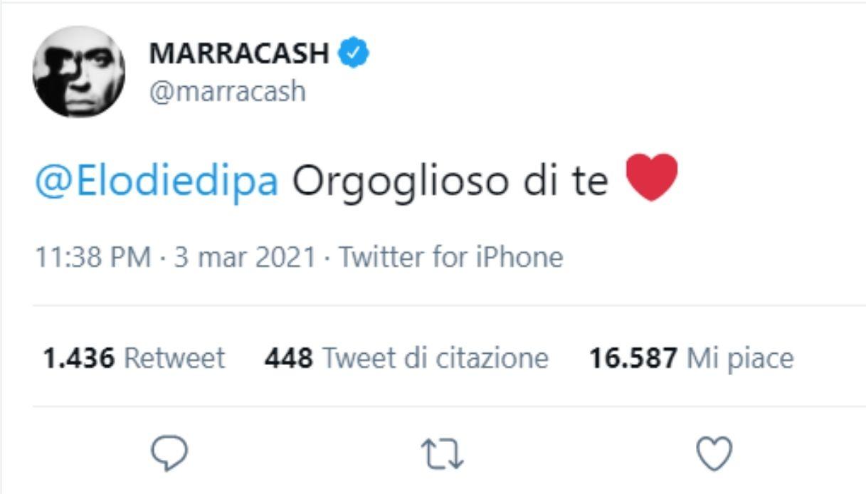Il tweet di Marracash