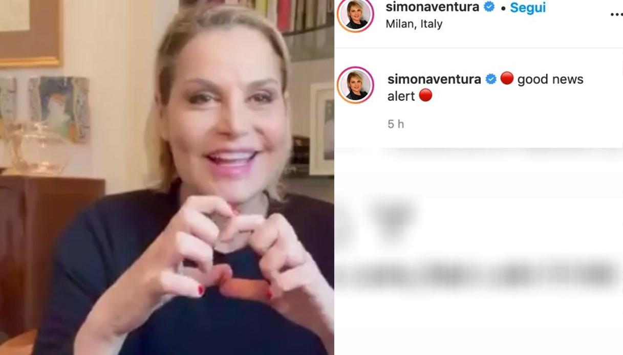 Simona Ventura negativa al Covid