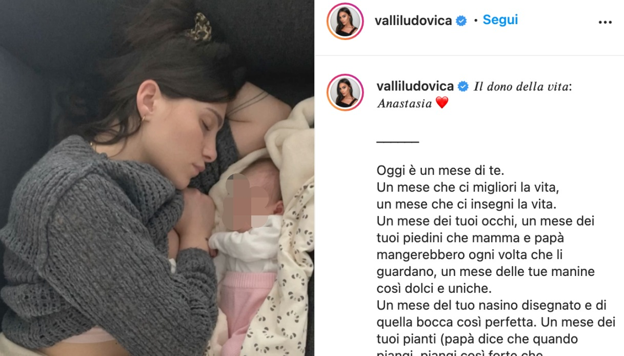 Ludovica Valli post Instagram