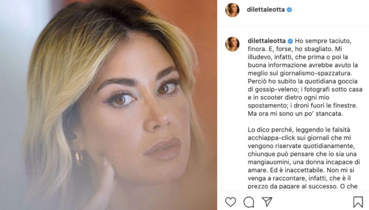 Diletta Leotta si sfoga su Instagram
