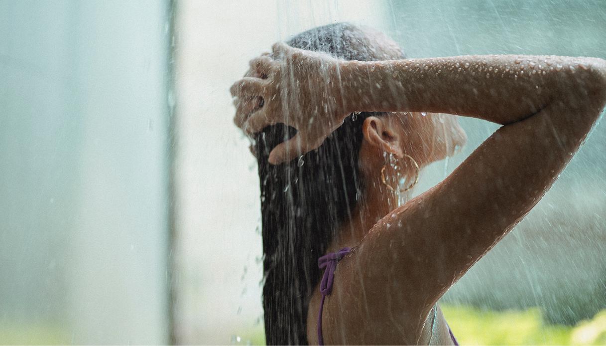 Olio di cocco capelli lavaggio