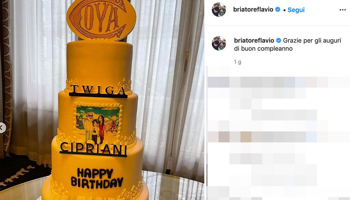 La torta di Flavio Briatore
