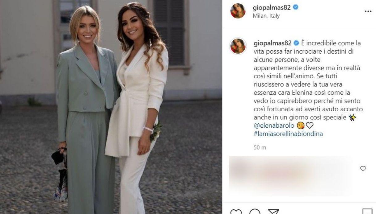 Il post su Instagram di Giorgia Plamas con Elena Barolo