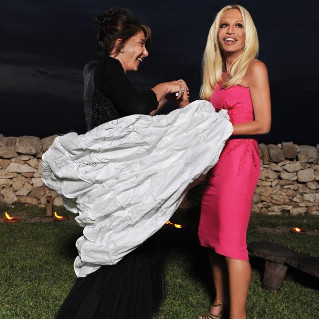 Donatella Versace Mariella Milani