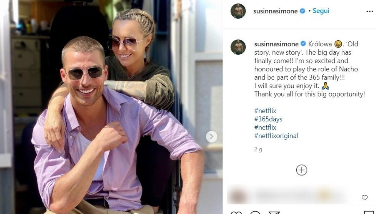 Simone Susinna annuncio Instagram