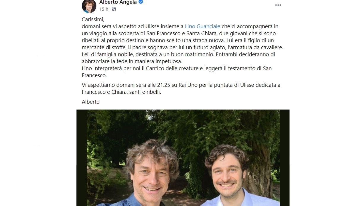 Alberto Angela e Lino Guanciale