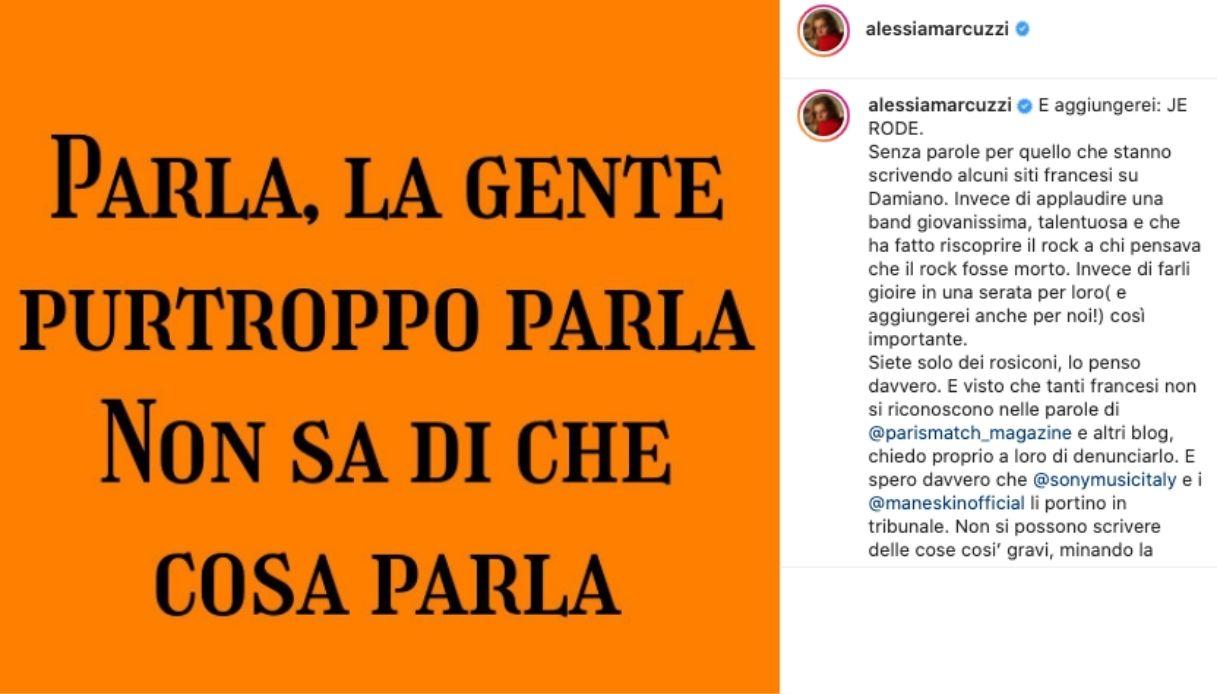 Alessia Marcuzzi su Instagram difende i Maneskin