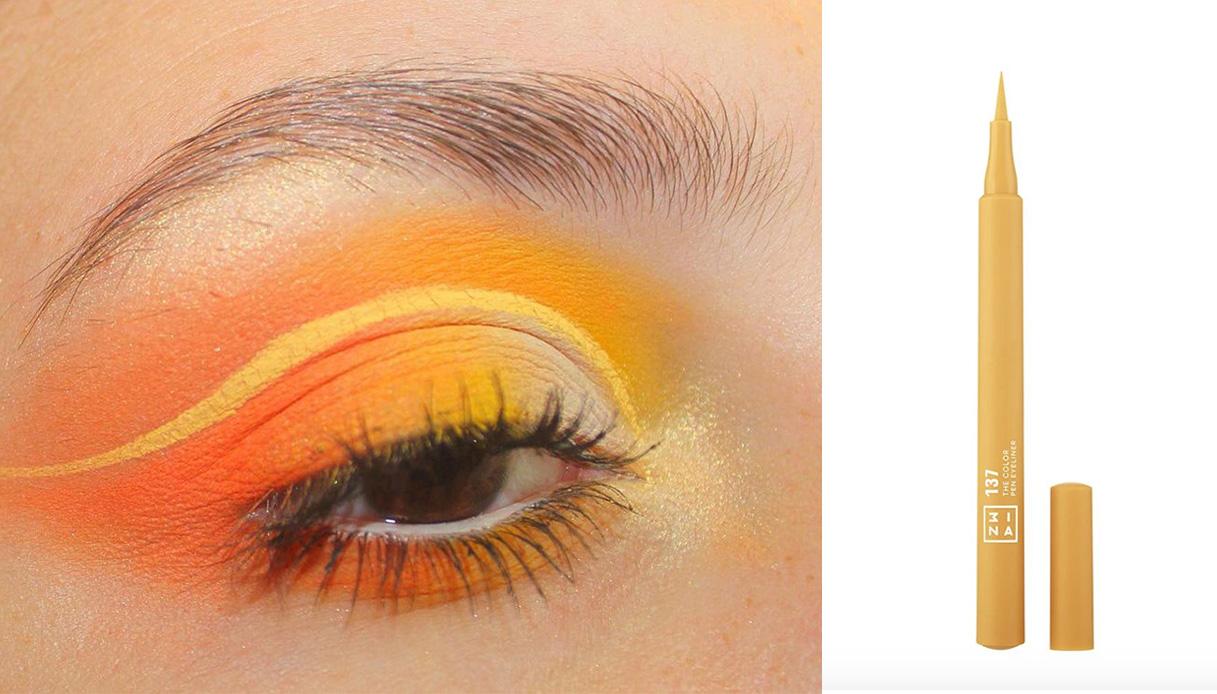 eyeliner giallo cut crease