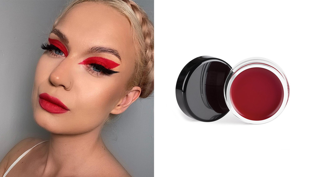 eyeliner colorato rosso