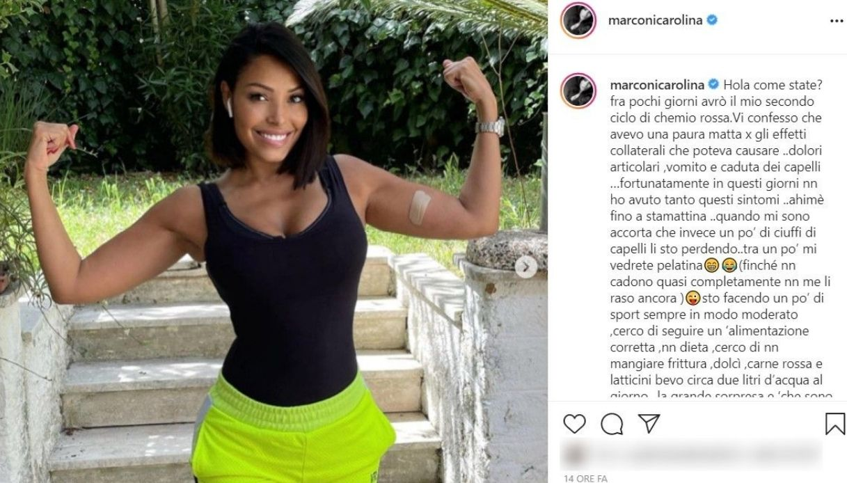 Carolina Marconi, il post su Instagram