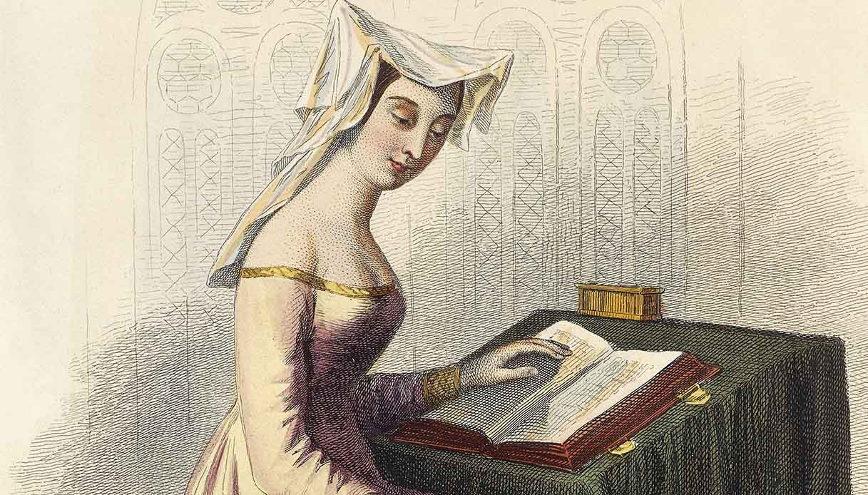 Portrait of Christine de Pizan or Christine de Pisan