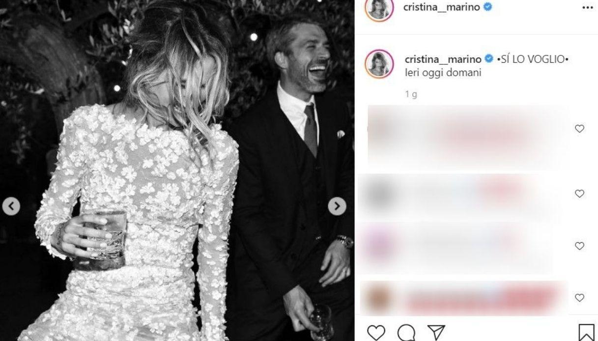 Cristina Marino foto nozze Instagram