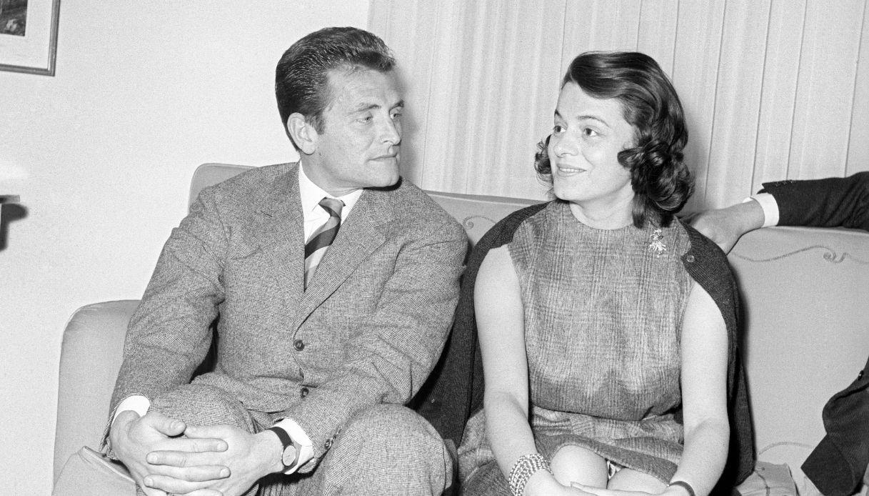 Giampiero Boniperti e la moglie Rosi