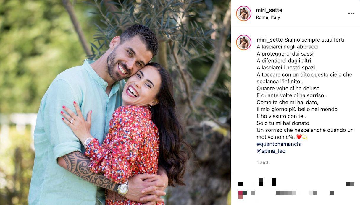 Chi è Miriam Sette, la moglie di Leonardo Spinazzola