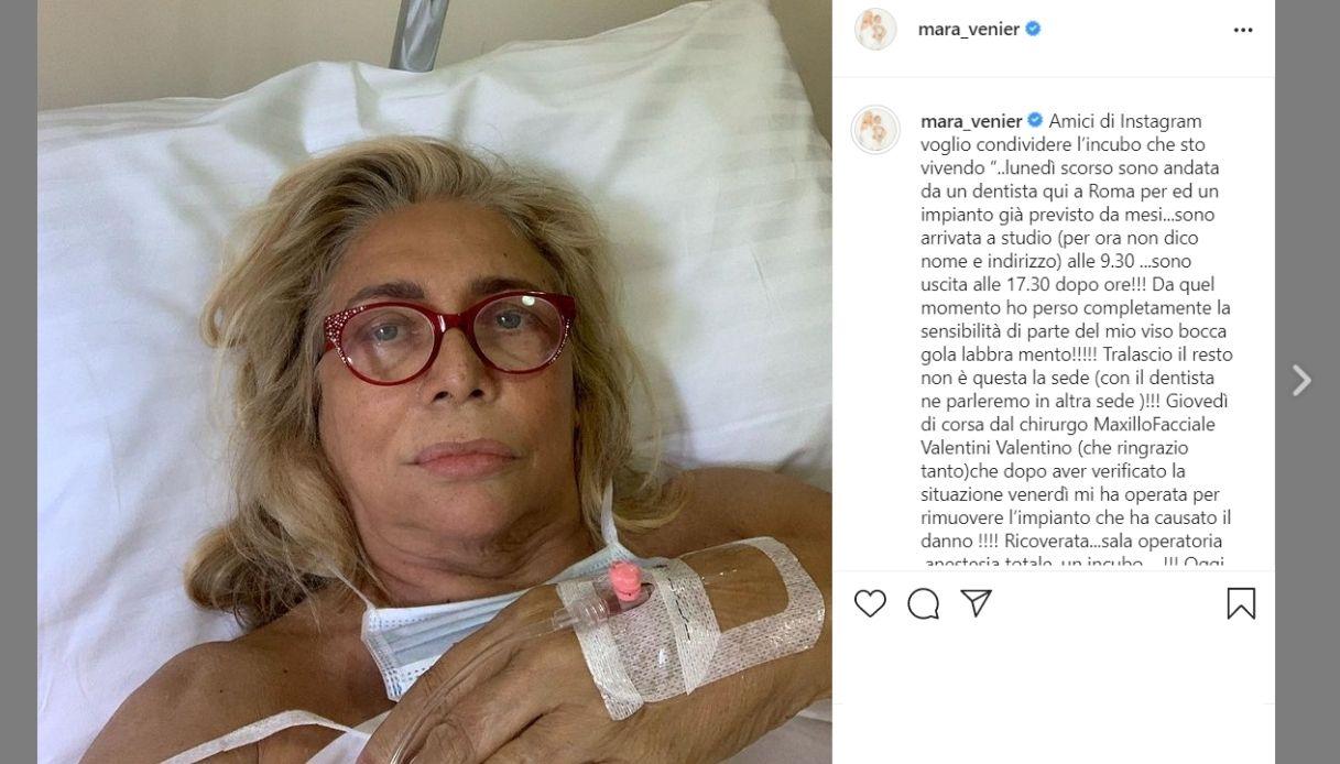 Mara Venier, post Instagram