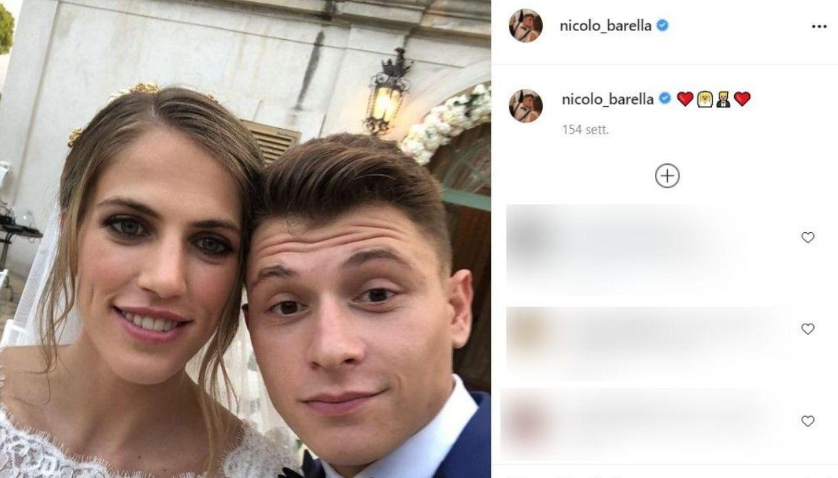 Post Instagram di Nicolò Barella