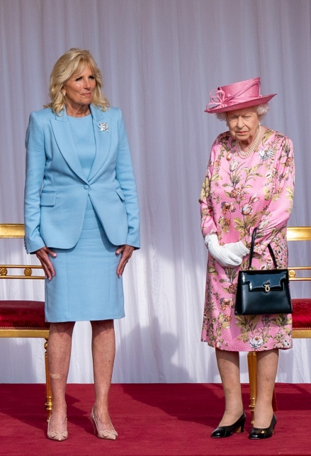 Jill Biden e la Regina Elisabetta