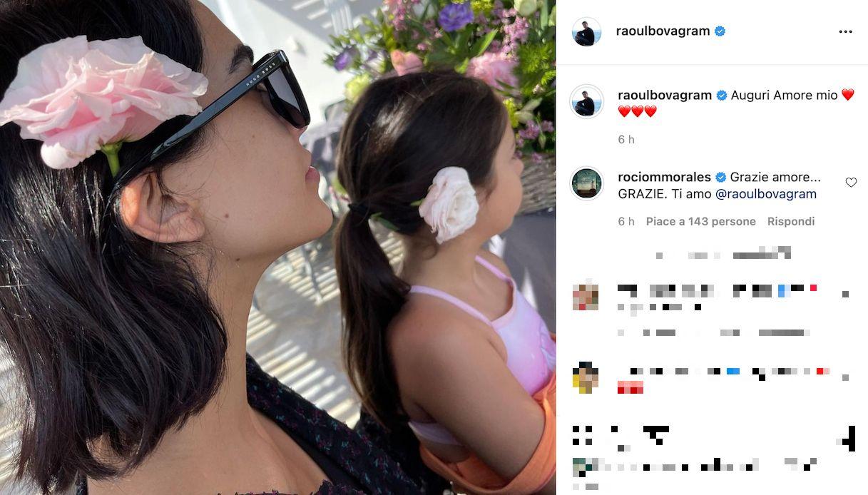 Rocio Munoz Morales, la dedica di Raoul Bova per il suo compleanno