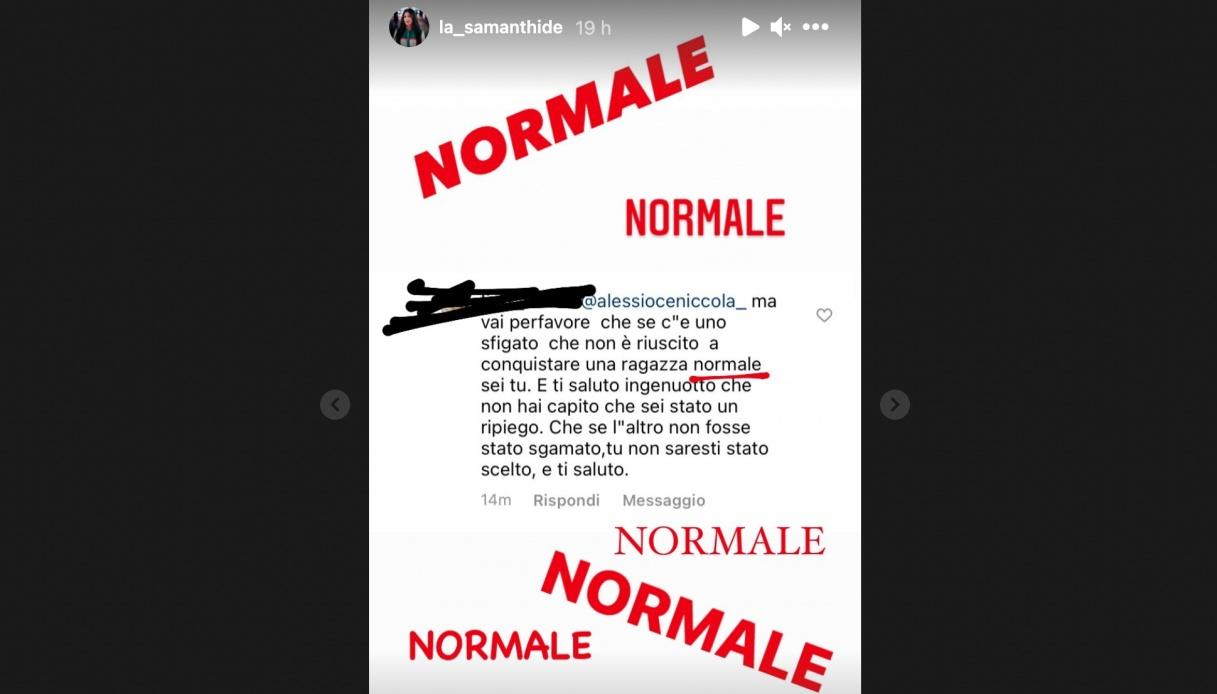 Samantha Curcio stories Instagram