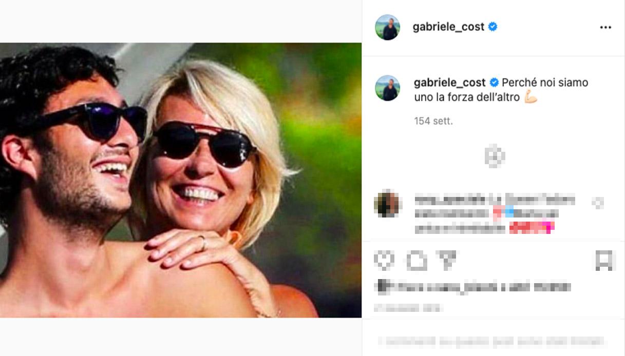 maria de filippi e gabriele su Instagram