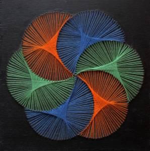 Mandala con string art
