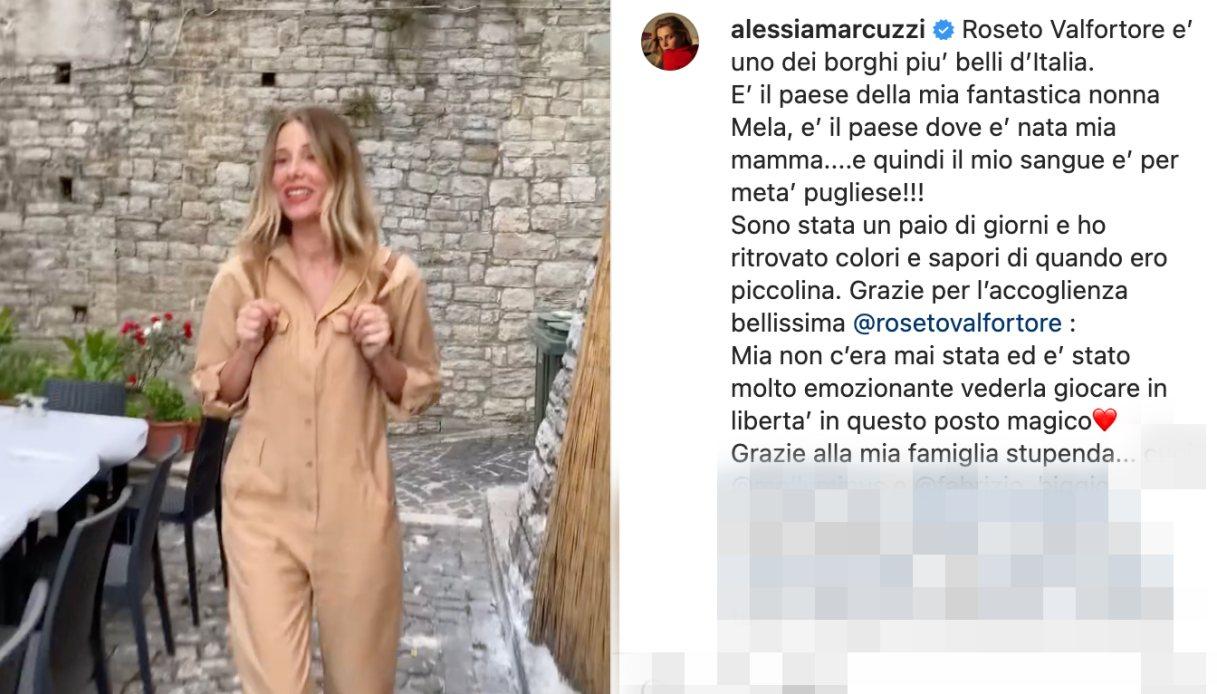 Alessia Marcuzzi a Roseto Valfortore