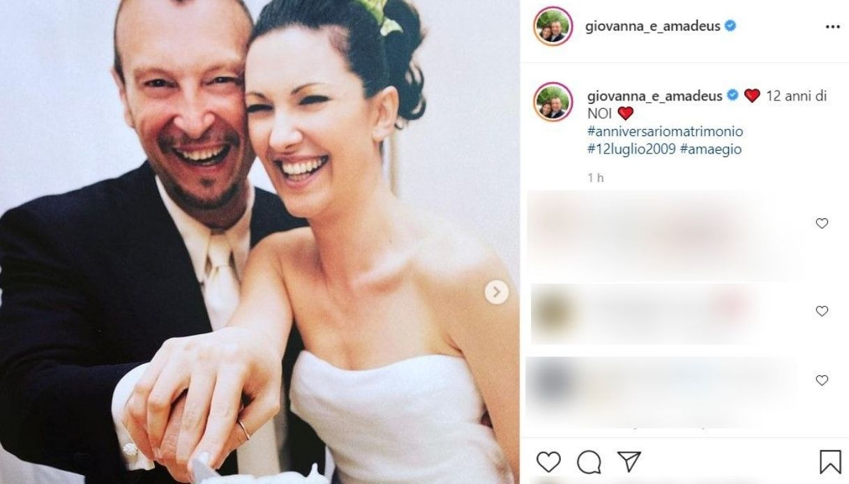 Amadeus e Giovanna post Instagram