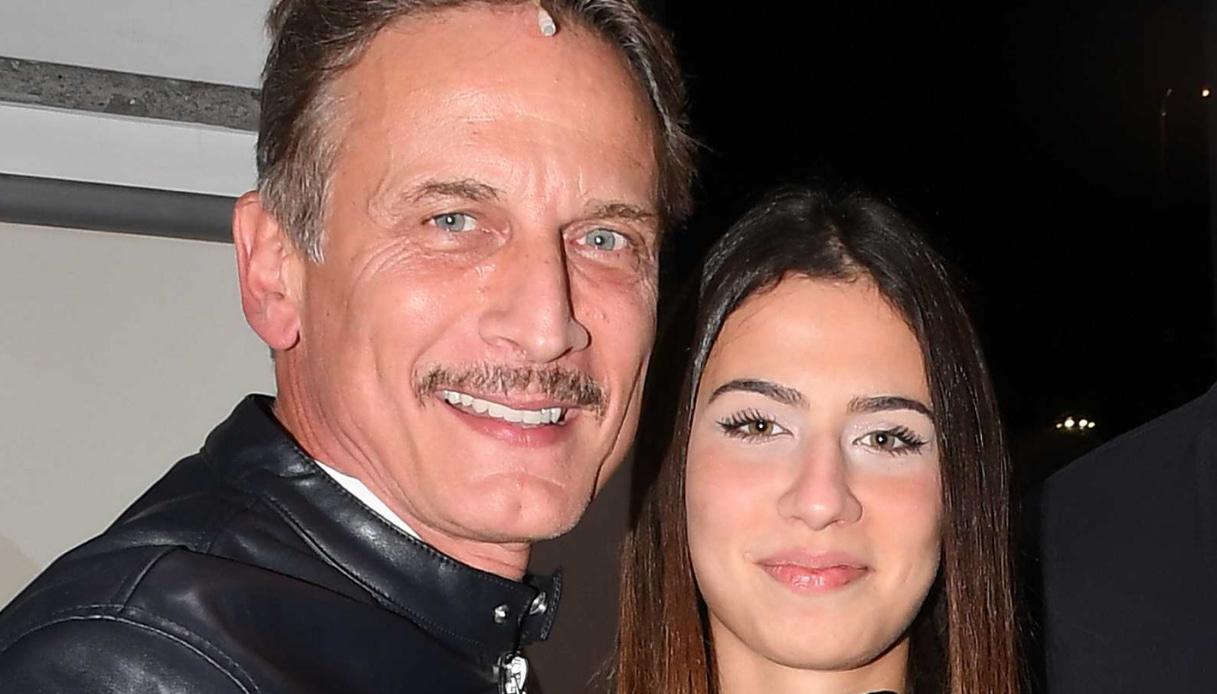 Cesare Bocci e la figlia Mia