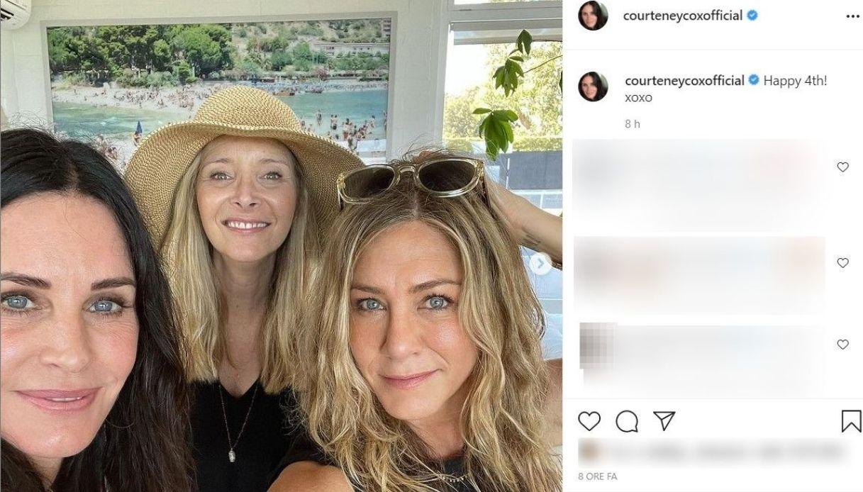 Courteney Cox, il post su Instagram