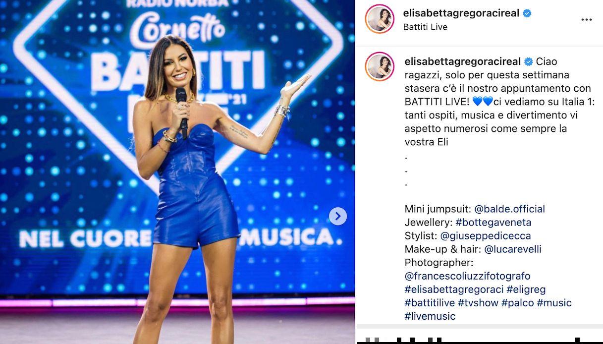 Elisabetta Gregoraci a Battiti Live
