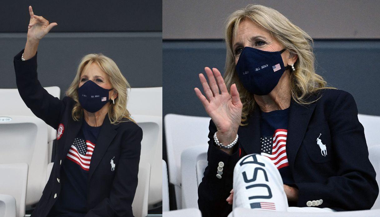 Jill Biden, vera tifosa a Tokyo 2020
