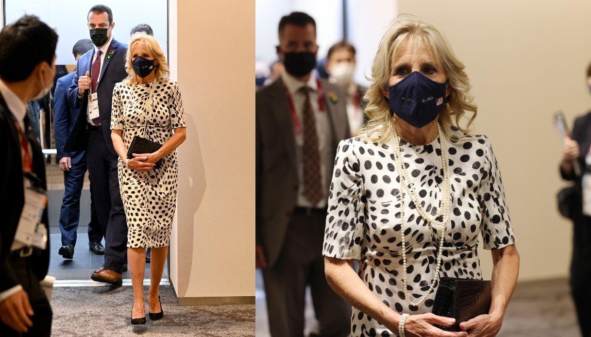 Jill Biden indossa un abito riciclato a Tokyo 2020