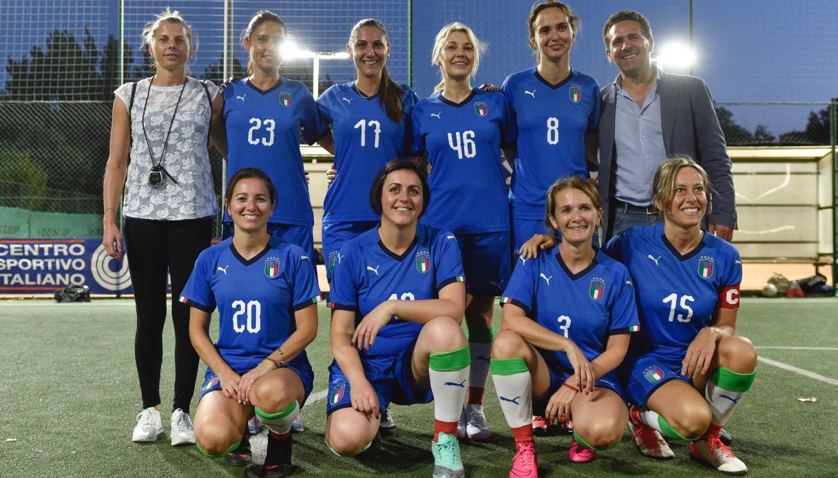 Katia Serra e la Nazionale di Calcio delle Parlamentari