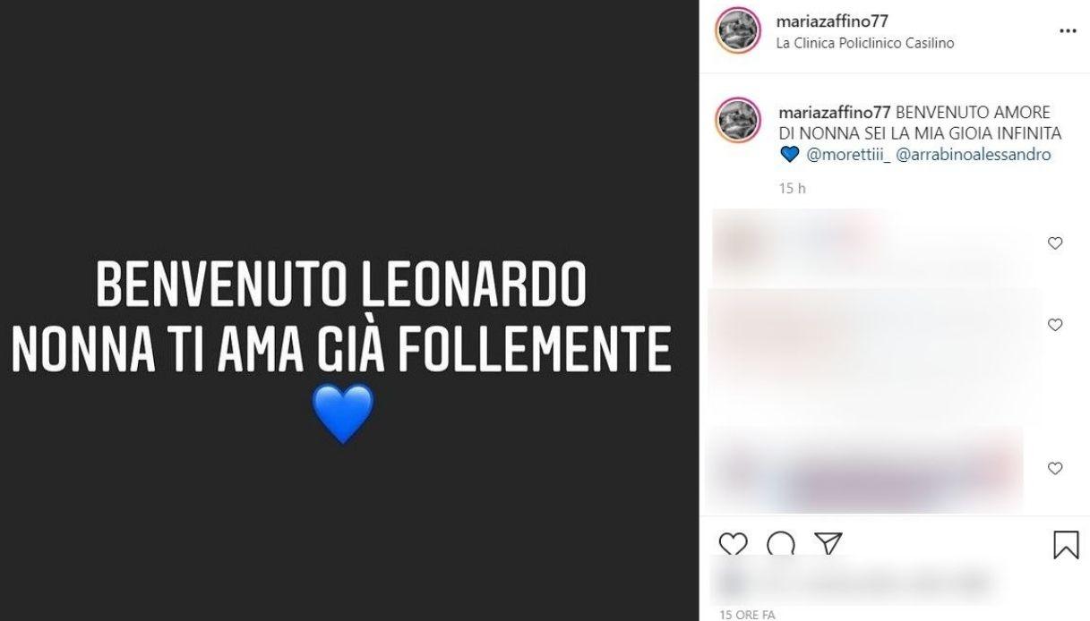 Maria Zaffino post Instagram