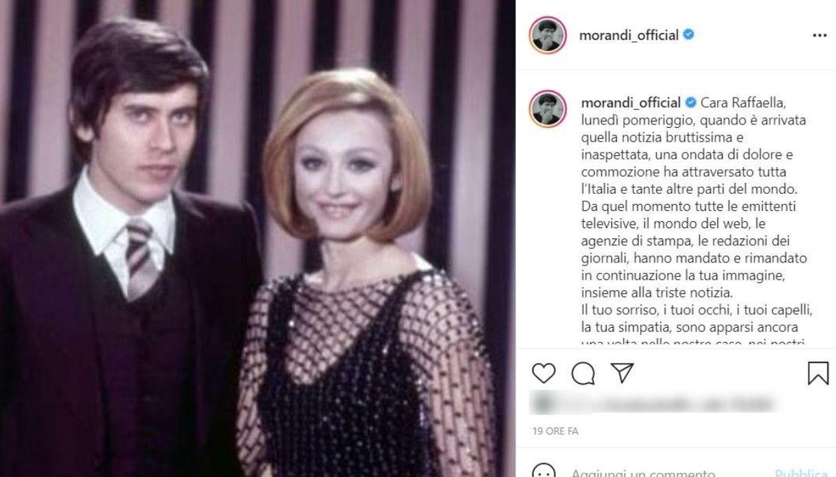 Post Instagram di Gianni Morandi