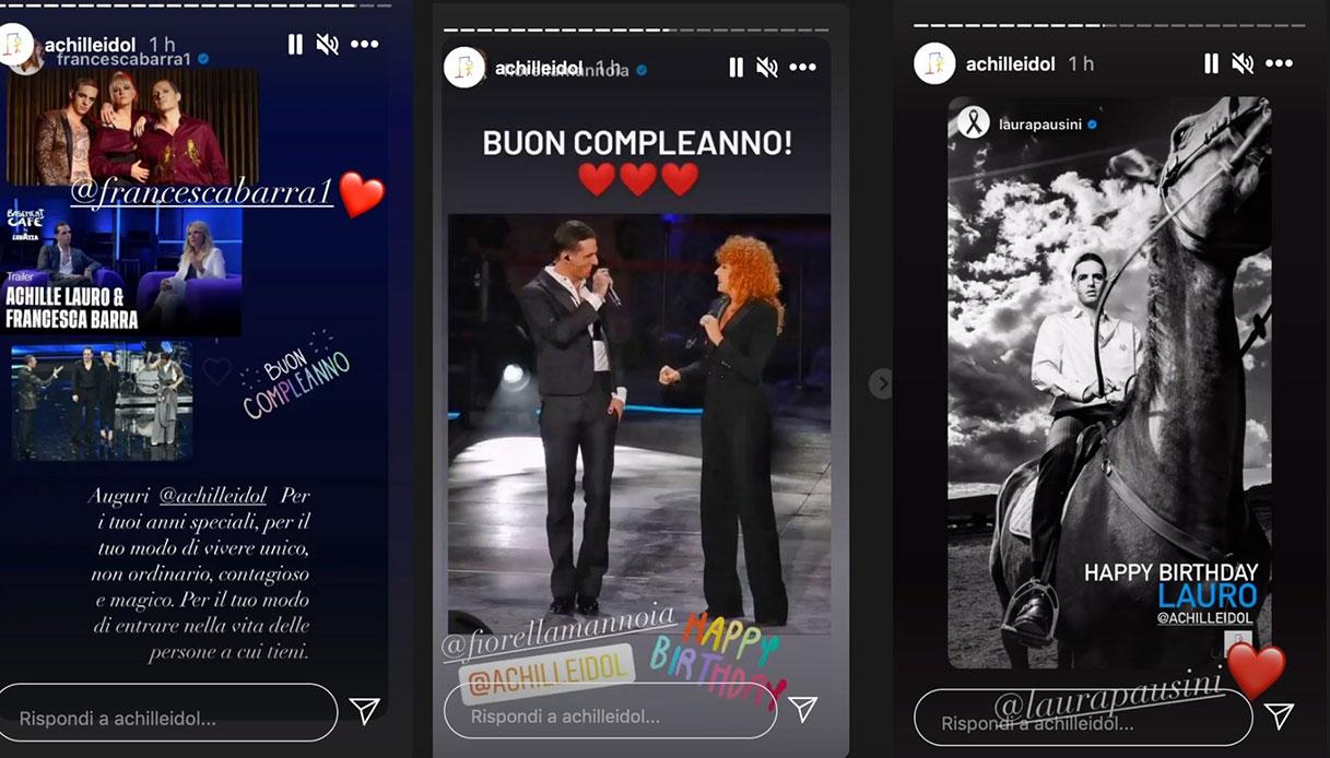 Achille Lauro gli auguri su Instagram