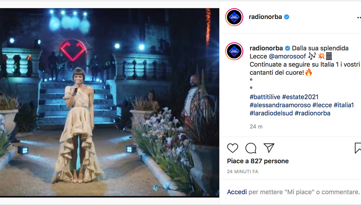 Alessandra Amoroso a Battiti Live