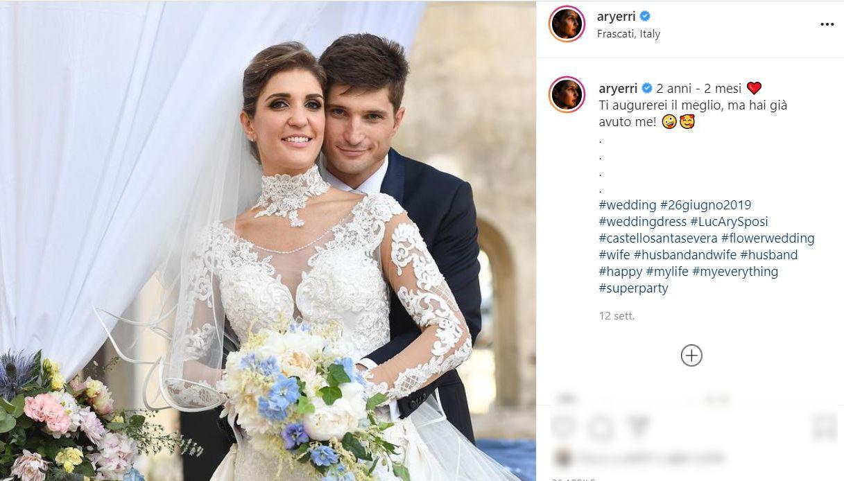 Arianna Errigo e Luca Simoncelli su Instagram